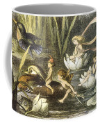 Fairies And Water Lilies Circa 1870 Coffee Mug