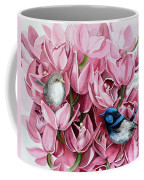 Fairy Wrens And Orchids Coffee Mug