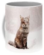 Fairytale Fox _ Red Fox In A Snow Storm Coffee Mug