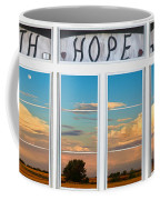 Faith  Hope Love Nature Window View Coffee Mug