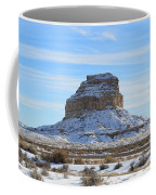 Fajada Butte In Snow Coffee Mug