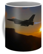 Falcon And The Sunset Coffee Mug