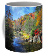 Fall Along The Linville River Coffee Mug