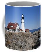 Fall At The Lighthouse Coffee Mug