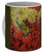 Fall Blueberries And Pine-sq Coffee Mug