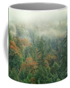 Fall Color And Fog Near Garberville California Coffee Mug
