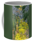 Fall Color And Waterfalls In Provo Canyon Utah Coffee Mug