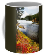 Fall Colors And Waterfalls Coffee Mug