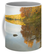 Fall Colors On Taylor Pond Mount Vernon Maine Coffee Mug by Keith Webber Jr