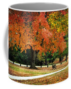 Fall In The Park Coffee Mug by Christina Rollo