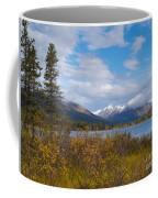 Fall Mountain Landscape Of Lapie Lake Yukon Canada Coffee Mug