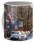 Fall On Bridge Coffee Mug