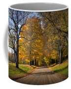 Fall Rural Country Gravel Road Coffee Mug