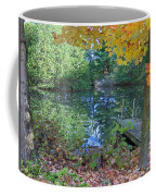 Fall Scene By Pond Coffee Mug