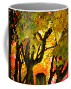 Fall Trees On A Country Road 3 Coffee Mug
