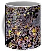 Fallen Autumn Leaves Among The Roots Coffee Mug