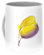 Fallen Leaf Yellow Shadows Coffee Mug