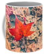 Fallen Red Leaf Coffee Mug
