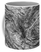 Fallen Tree Bark Bw Coffee Mug