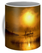 Fallen Tree In Misty Sunrise At Coffee Mug