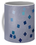 Falling Blue Squares Coffee Mug