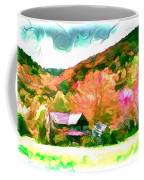Falling Farm Blended Art Styles Coffee Mug