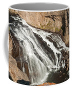 Falls On The Gibbon River In Yellowstone National Park Coffee Mug