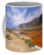 Famara Cliffs And Salinas Del Rio On Lanzarote Coffee Mug