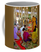 Families Awaiting Teaching From A Monk At Wat Tha Sung Temple In Uthaithani-thailand Coffee Mug