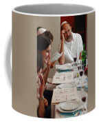 Family Around The Sedder Table Coffee Mug