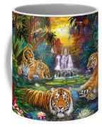 Family At The Jungle Pool Coffee Mug by Jan Patrik Krasny