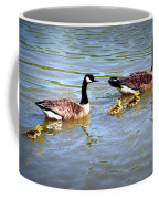 Family Of Geese Out For A Swim Coffee Mug