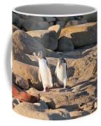 Family Of Nz Yellow-eyed Penguin Or Hoiho On Shore Coffee Mug