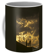 Family On Hillside Holding Hands And Facing Life Together. Coffee Mug