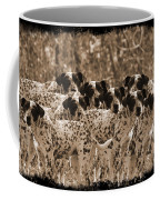 Family Portrait Before The Hunt-featured Picture In Large Dogs Only Group Coffee Mug