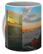 United Nations Secretariat With Chrysler Building Reflection Coffee Mug
