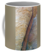Fan Palm Forced Into A Slant By Rock In Andreas Canyon-ca Coffee Mug