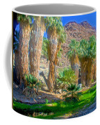 Fan Palms By The Creek In Lower Palm Canyon In Indian Canyons Near Palm Springs-california Coffee Mug