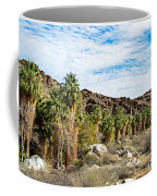 Fan Palms Line The Creek In Andreas Canyon In Indian Canyons-ca Coffee Mug