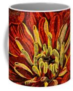 Fanciful Bold Floral Mosaic Coffee Mug