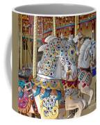 Fanciful Carousel Ponies Coffee Mug