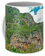 Fancy Tomb Carvings At The Top In Daylan-turkey Coffee Mug