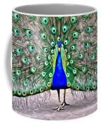 Fanning Peacock Coffee Mug