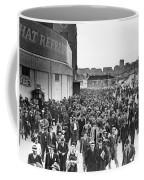 Fans Leaving Yankee Stadium. Coffee Mug by Underwood Archives
