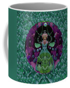 Fantasy Cat Fairy Lady On A Date With Yoda. Coffee Mug