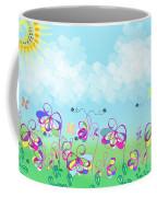 Fantasy Flower Garden - Childrens Digital Art Coffee Mug