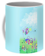 Fantasy Garden Chisdren's Art - Side Panel 2 Coffee Mug