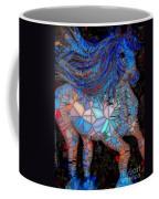 Fantasy Horse Mosaic Blue Coffee Mug