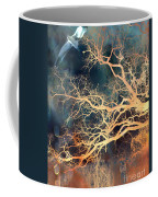 Seagull Gothic Fantasy Surreal Trees And Seagull Flying Coffee Mug