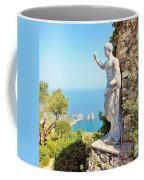 Faraglioni Rocks From Mt Solaro Capri Coffee Mug